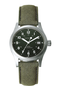 HAMILTON - MEN'S KHAKI FIELD GREEN DIAL MECHANICAL - H69419363
