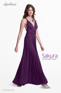 HENKAA One Size Sakura Maxi Convertible Dress - PLUM