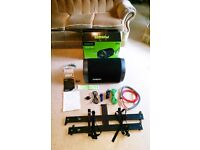 360 Watt 'Fusion' Car Subwoofer Bass Amp&Speaker + all wires, instructions, fixing base