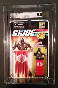 GI JOE SDCC 2008 COBRA LEADER FIGURE COMMANDER AFA 9.0 HTF BLACK