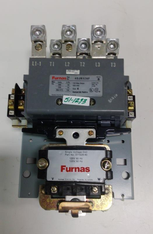 FURNAS 3PH 600VAC CONTACTOR 40JB322AF SER B