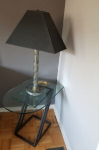 End Table with the Table Lamp