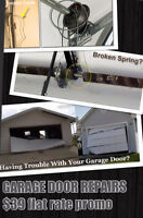 GARAGE DOOR REPAIRS FLAT RATE $39 CALL 416-613-8002
