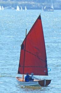 15 foot wooden sailing dinghy - $7,500