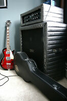 KUSTOM Tuck and Roll TRT50 Tube Amp Head and Cabinet half stack
