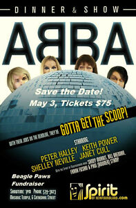 Tickets to ABBA show May 3