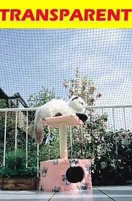 6x3m Balkonschutznetz Katzen-Schutznetz Katzenschutznetz transparent NEU
