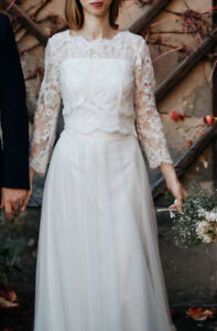 WEDDING IVORY LACE TOP