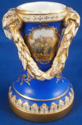 Superb Antique Meissen Porcelain Scenic Vase / Quill Holder Porzellan Scene