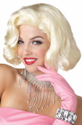 Sexy Diamonds Marilyn Monroe Halloween Costume Wig (Blonde) (Blonde Celebrities Halloween Costumes)