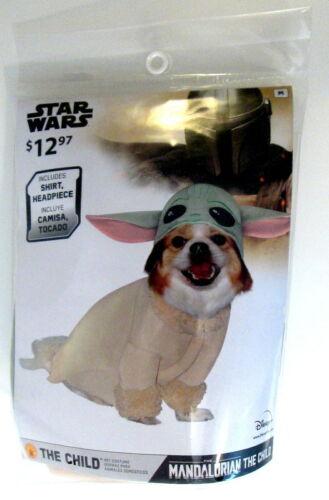 Disney Star Wars The Mandalorian BABY YODA Dog Puppy Costume Sz Medium Open Pkg