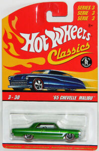 Hot Wheels Classics 1/64 '65 Chevelle Malibu Diecast Car Green