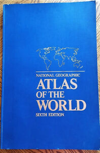 Atlas of the World National Geographic Sixth Edition  1990