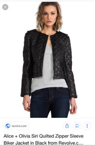 Alice + Olivia studded leather jacket