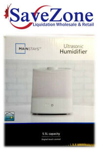 NEW- Mainstays Ultrasonic Humidifier- 5.5L-Digital Touch Control