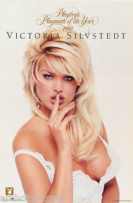 POSTER :  VICTORIA SILVSTEDT - PMOY  - PLAYBOY -  SEXY FEMALE MODEL #3284 LP41 O