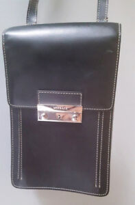 Versace Men's Leather Messenger Bag