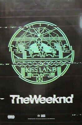The Weeknd 2013 Kissland Huge 2 Sided Promotional Poster New Mint Condition