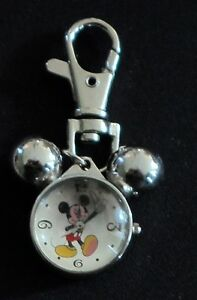 mickey mouse clip-on watch  quartz  analog