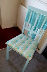 Beautiful Bird egg blue cushioned chair