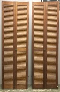 Real wood bifold closet doors