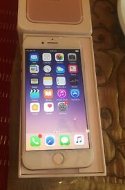 Apple iPhone 7 white and gold 32gb on o2