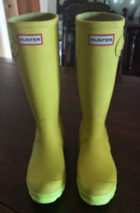 Lime Green Hunter Boots (matte)