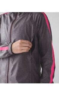 "new~ lululemon ""the drizz"" rain jacket in black cherry~size 8"