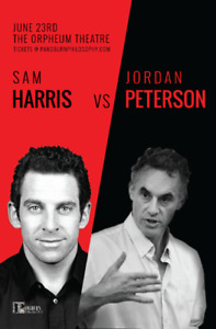 2 Tickets - Sam Harris / Jordan Peterson Orpheum Theater June 23