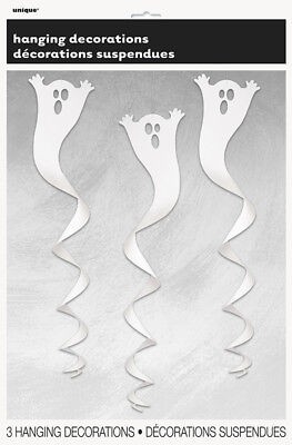 Halloween Children's Kids Party Ghost Hanging Swirls Decorations 3pk - Kids Halloween Party Decorations