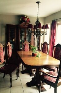 Dining Set - Table with 6 chairs and Hutch
