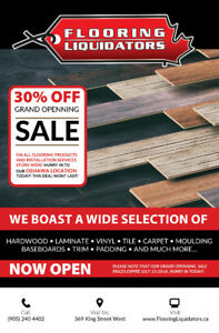 Flooring SALE!!! 30% OFF EVERYTHING! Flooring Liquidators