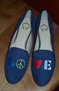 "Blue suede Loafers!  C Wonder/ Chris Burch. ""New Price"""