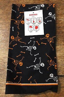 Halloween Dancing Skeleton Bandana Set Of 2 Craft Skull Bones Head Band Wrap](Dancing Skeleton Halloween Decorations)