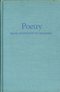 Vintage book:  Poetry from Statement to Meaning by Jerome Beaty