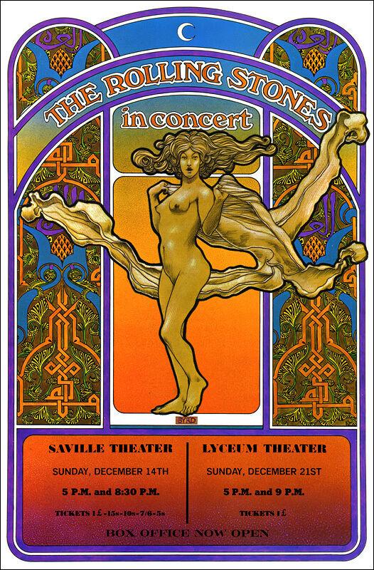 ROLLING STONES 1969 London Concert Poster - $12.99