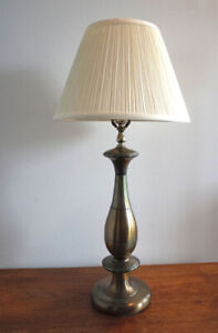Brass Table Lamp and Candle Holders