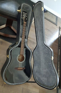 Takamine GD30-BLK Dreadnought Acoustic Guitar, Black