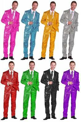 Pailletten Jackett Kostüm Jacke Sakko Anzug Show Disco Party Herren Partyanzug