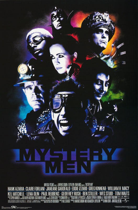 POSTER:MOVIE REPRO: MYSTERY MEN - CAST COLLAGE - FREE SHIPPING  #3670    RP81 W