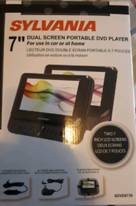"""7"""" Dual Screen Portable DVD Player - NEW"""