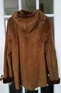 Size Medium, Brown/Rust Faux Suede Winter Jacket St. John's Newfoundland image 4