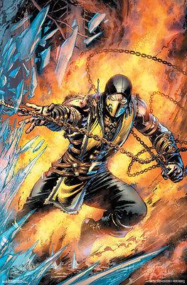 Mortal Kombat- Scorpion Comic Poster Print, 22x34