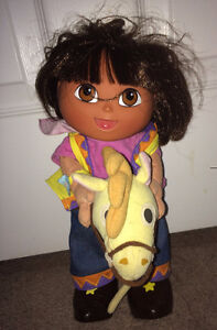 "Dora The Explorer 12"" Cowgirl & Horse Pinto Dancing & Singing"