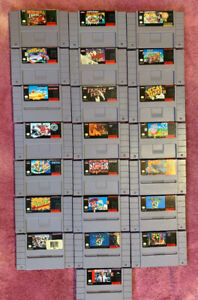 22 vintage SNES GAMES All in great shape