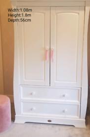 SOLD BARGAIN Boori Sleigh Childrens Wardrobe :White RRP £934