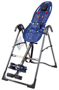 Teeter EP-560 Ltd Inversion Table with Back Pain Relief Kit, Blu