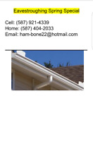 Offering Eavestrough/Rain gutters  services