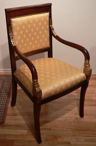 Occasional Armchair- Yellow Silk and Gold Leaf Highligs-ITALIAN