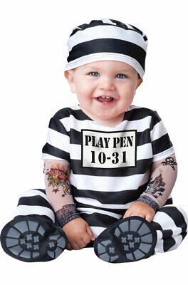 Brand New Time Out Jail Prisoner Convict Infant/Toddler Costume - Toddler Jail Costume